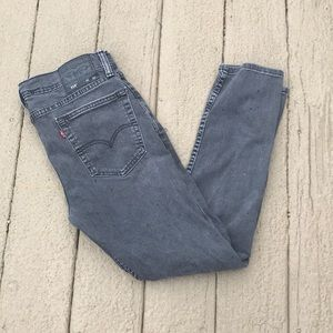 Dark Grey Levi's Skinny Jeans